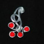 pendentif multifils perlés