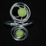 bracelet multifils aluminium perlé